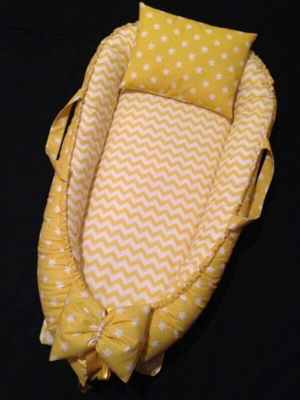 Sarı Yıldızlı ve Sarı Zigzag Babynest
